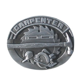 Carpenter Antiqued Metal Belt Buckle