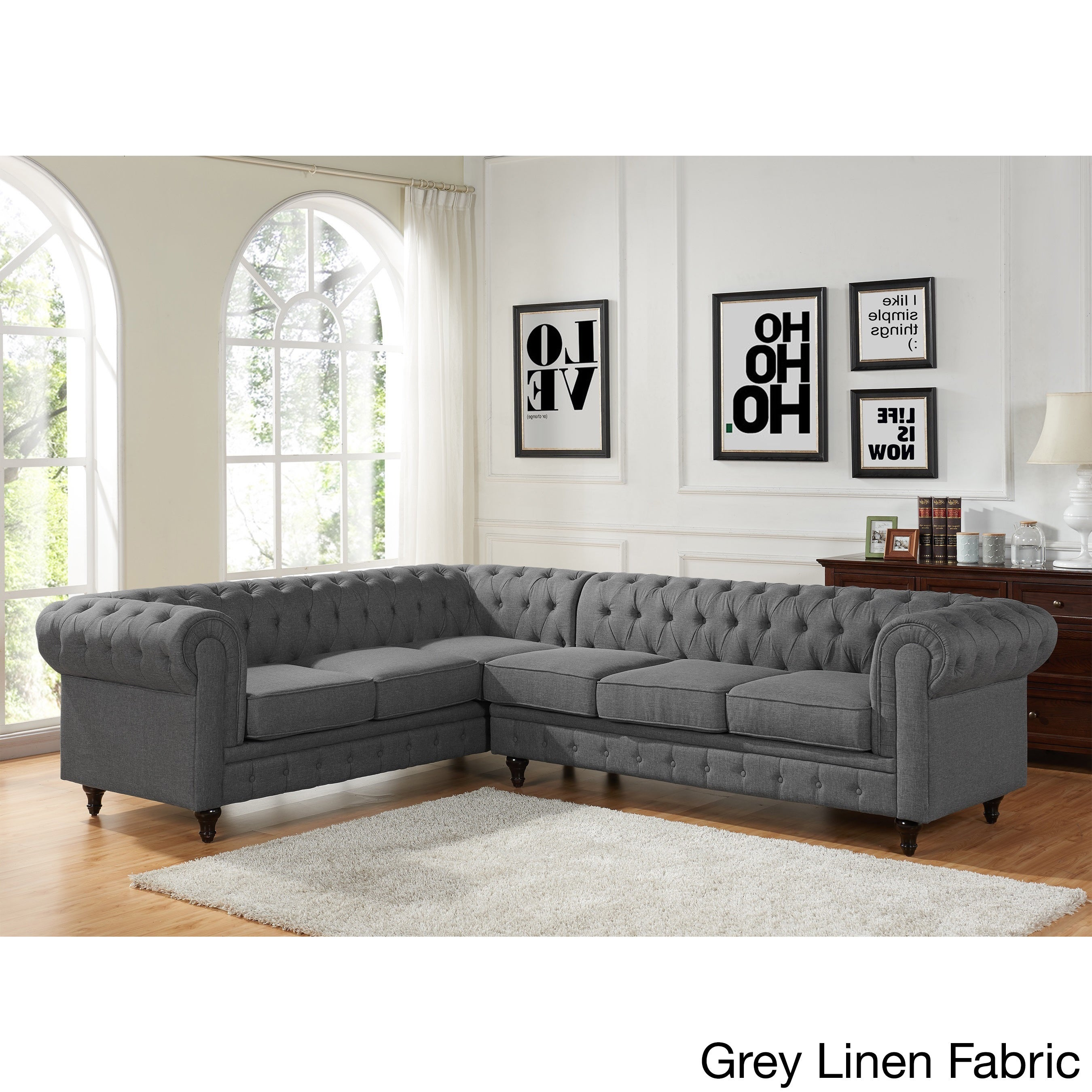 US Pride Furniture Sophia Modern Style Tufted Rolled Arm ...