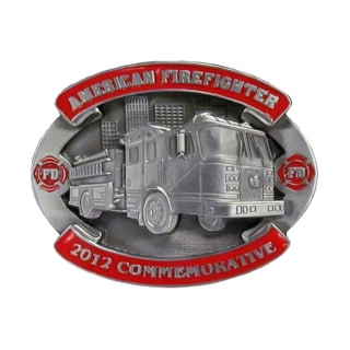 2012 Firefighter Commemorative Metal Belt Buckle