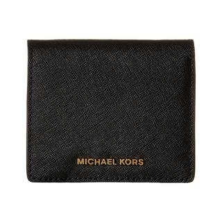 Michael Kors Jet Set Black Travel Saffiano Leather Card Holder