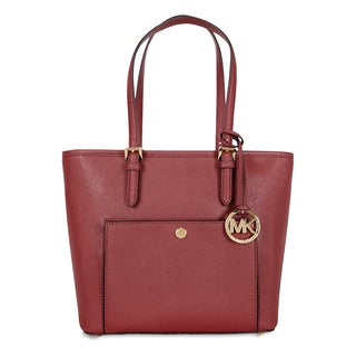 Michael Kors Jet Set Brick Saffiano Medium Top Zip Tote Bag