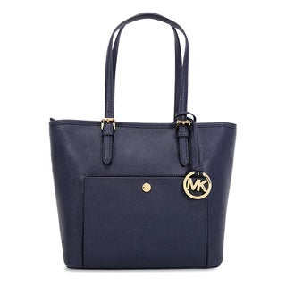 Michael Kors Jet Set Admiral Saffiano Medium Top-zip Tote Bag