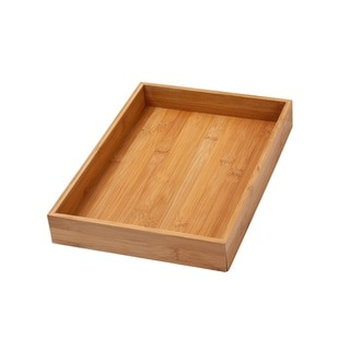 YBM Home & Kitchen Bamboo 14-inch Long x 10-inch Wide x 2-inch High Drawer Organizer Box