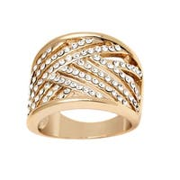 Goldplated Gold and Clear Ring