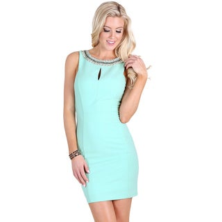 Nikibiki Women's Mint Rhinestone Chain Neckband Dress