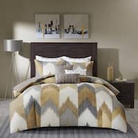 INK+IVY Alpine Yellow Cotton Printed Duvet Cover Mini Set