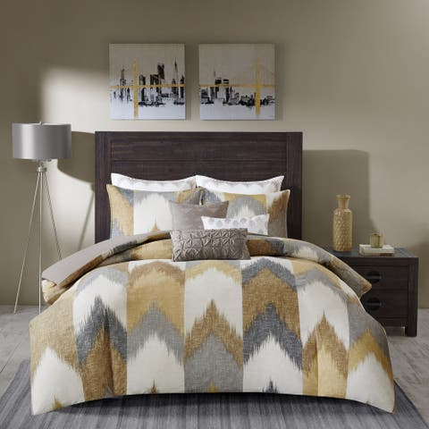 Carson Carrington Ogre Yellow Cotton Printed Comforter 3-piece Set