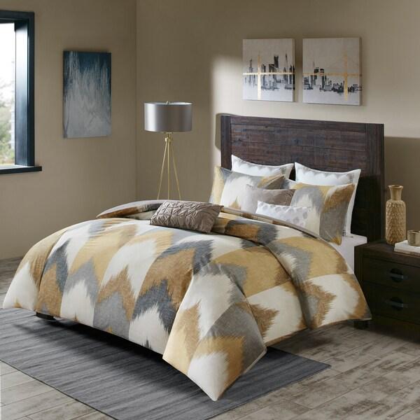 INK+IVY Alpine Yellow Cotton Printed Comforter Mini Set