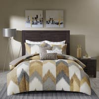 Carson Carrington Ogre Yellow Cotton Printed Comforter 3-piece Set