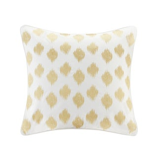 The Curated Nomad Miley Gold Dot Cotton Embroidered Euro Sham