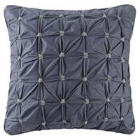 Carbon Loft Dickson Navy Cotton Embroidered Euro Sham