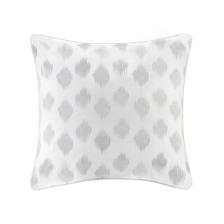 INK+IVY Nadia Dot Silver Cotton Embroidered Euro Sham