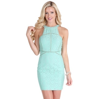 Nikibiki Women's Ice Mint Ladder Trim Inset Lace Bounding Dress