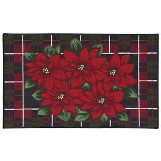 Nourison Essential Elements Poinsettia Green Accent Rug (1'8 x 2'9)