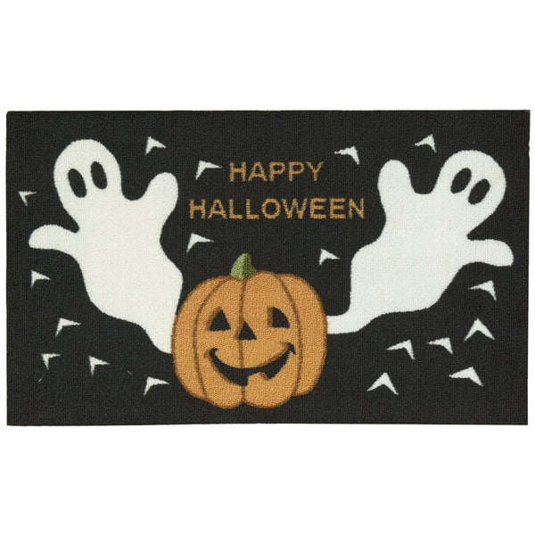 Nourison Essential Elements Ghost & Pumpkins Black Accent Rug (1'5 x 2'4) - 1'5 x 2'4