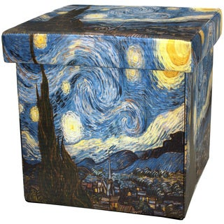 Van Gogh Starry Night Storage Ottoman (China)