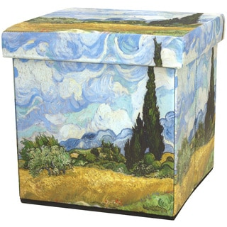 Van Gogh Wheat Field Storage Ottoman (China)