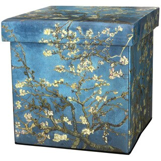 Van Gogh Almond Branch Storage Ottoman (China)