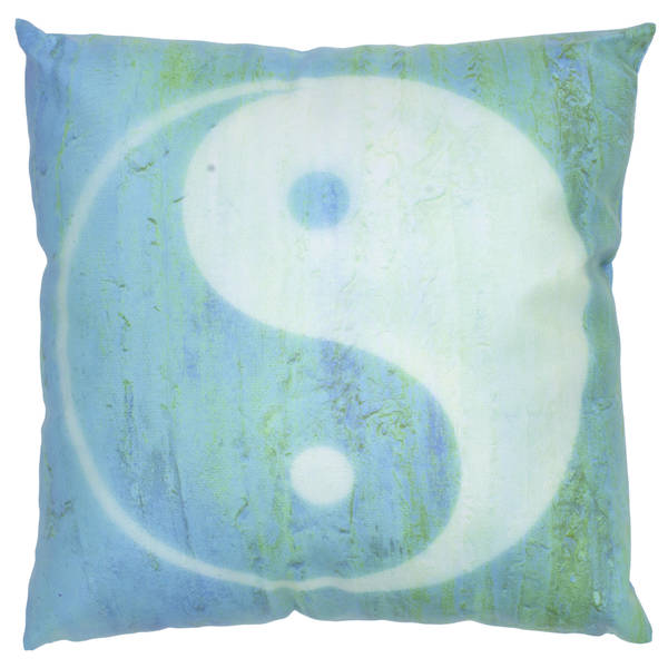 Handmade Yin Yang Throw Pillow (China)