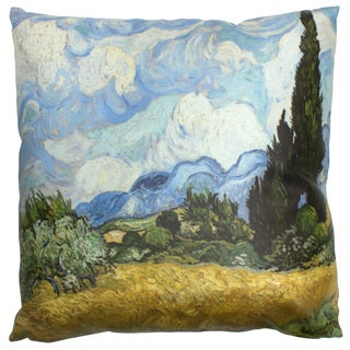 Handmade Van Gogh Wheat Field Pillow (China)