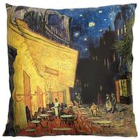 Handmade Van Gogh Cafe Terrace at Night Pillow (China)