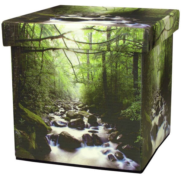Handmade River of Life Storage Ottoman