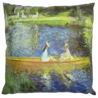 Handmade Renoir on the Seine Pillow (China)