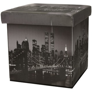 Brooklyn Bridge Storage Ottoman (China)