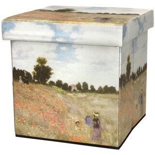 Monet Poppies Storage Ottoman (China)