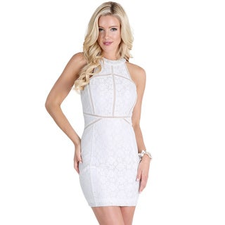 Nikibiki Women's Off-White Ladder Trim Inset Lace Bounding Dress