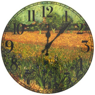 Handmade Van Gogh Field of Irises Wall Clock (China)