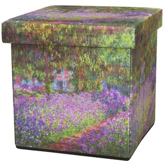Monet Irises Storage Ottoman (China)