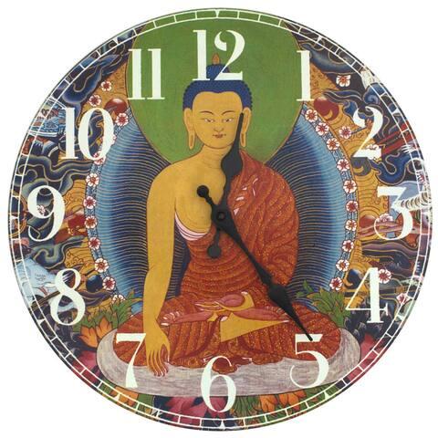 Handmade The Enlightened Buddha Wall Clock