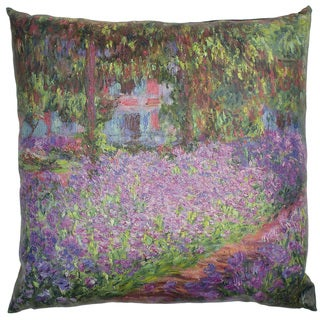Handmade Monet Irises Pillow (China)