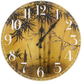 Bamboo Tree Wall Clock (China)