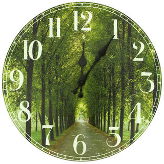 Handmade Path of Life Wall Clock