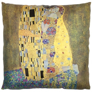 Handmade Klimt 'The Kiss' Pillow (China)