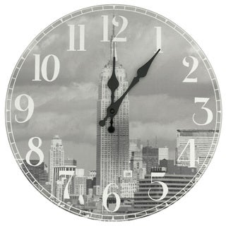 Handmade Empire State Building Wall Clock (China)