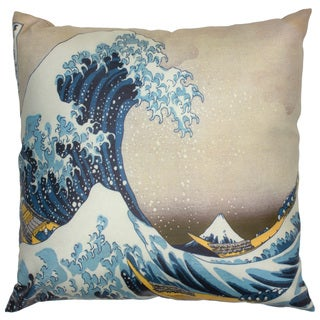 Handmade 'Great Wave Off Kanagawa' Pillow (China)