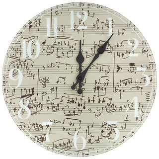 Handmade Symphony Score Wall Clock (China)