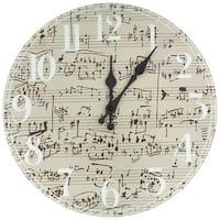 Handmade Symphony Score Wall Clock (China)