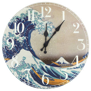 Handmade Great Wave off Kanagawa Wall Clock