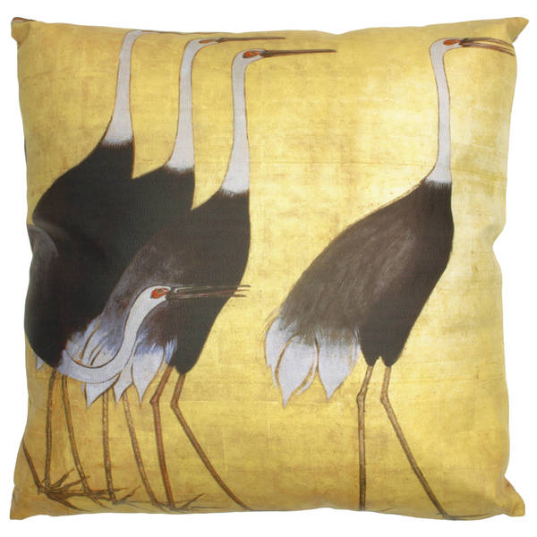 Handmade Walking Cranes Pillow