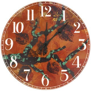 Handmade Rich Autumn Wall Clock by Gita (China)