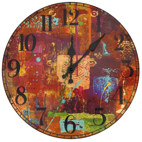 "Handmade India by Gita Wall Clock - 13""W x 1""D x 13""H"
