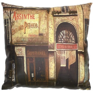 Handmade Parisian Cafe Pillow (China)