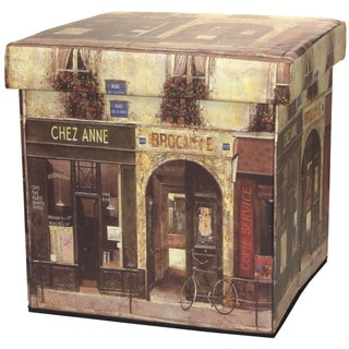 French Cafe Storage Ottoman (China)