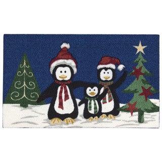 Nourison Enhance Penguins Navy Accent Rug (1'6 x 2'6)