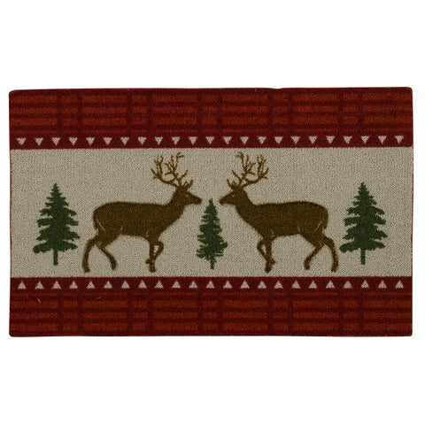 "Nourison Enhance Reindeer Woodland Red Accent Rug - 1'6"" x 2'3"""