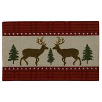 Nourison Enhance Reindeer Woodland Red Accent Rug - 1'5 x 2'4
